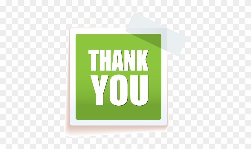 Thank You For Your Support - Sticker Hd Vector Design #340163