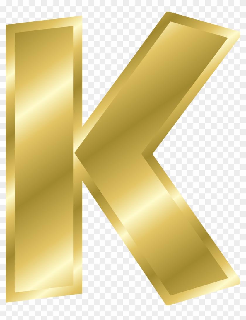 Golden Clipart Alphabet - Letter K In Gold #340804