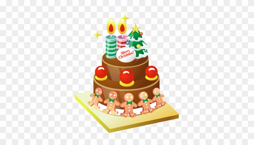 Happy New Year Fotor Photo Cards - Christmas Cake Vector Png #341160