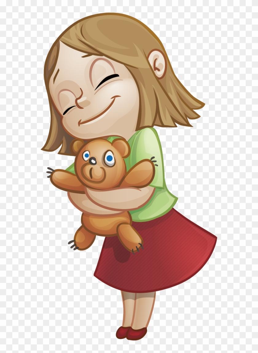 Cartoon Sweetness Character Clip Art - Cute Girl Vector Character #341281