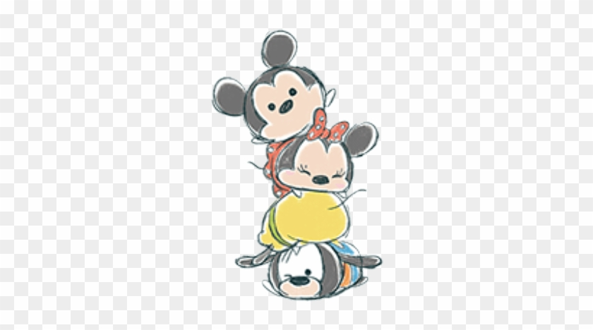 Cute Drawing Of Mickey, Minnie, Pluto And Goofy - Tsum Tsum Wallpaper Iphone #