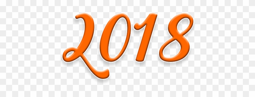 New Year 2018 Hd Greeting Cards With Orange Colour - Happy New Year 2018 Images Png #341370