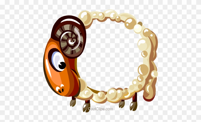 Cartoon Sheep Frame Royalty Free Vector Clip Art Illustration - Cartoon Photo Frame Png #341499