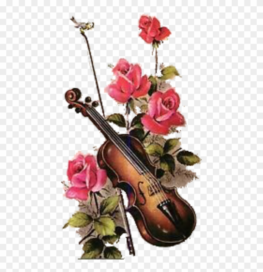 Roses Violin - Hearts And Flowers Violin #341546