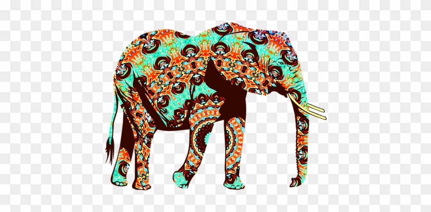 Animal Elephant Zoo Zoo Animals Wild Natur - Cool Orange,brown And Turquoise Elephant Throw Blanket #341584
