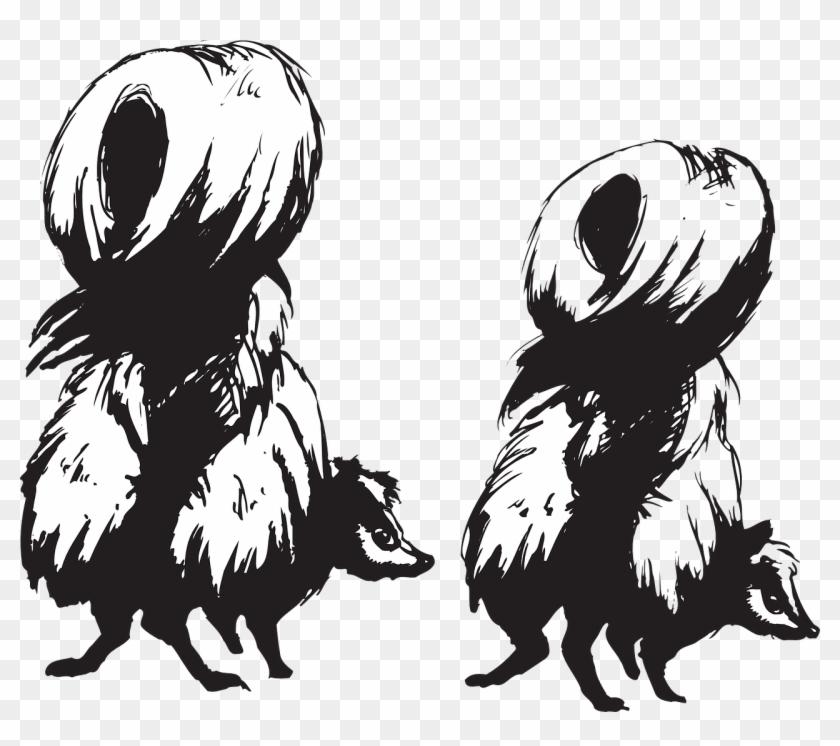 Skunks Animals Back Defense Transparent Image - Skunks Clipart #341793