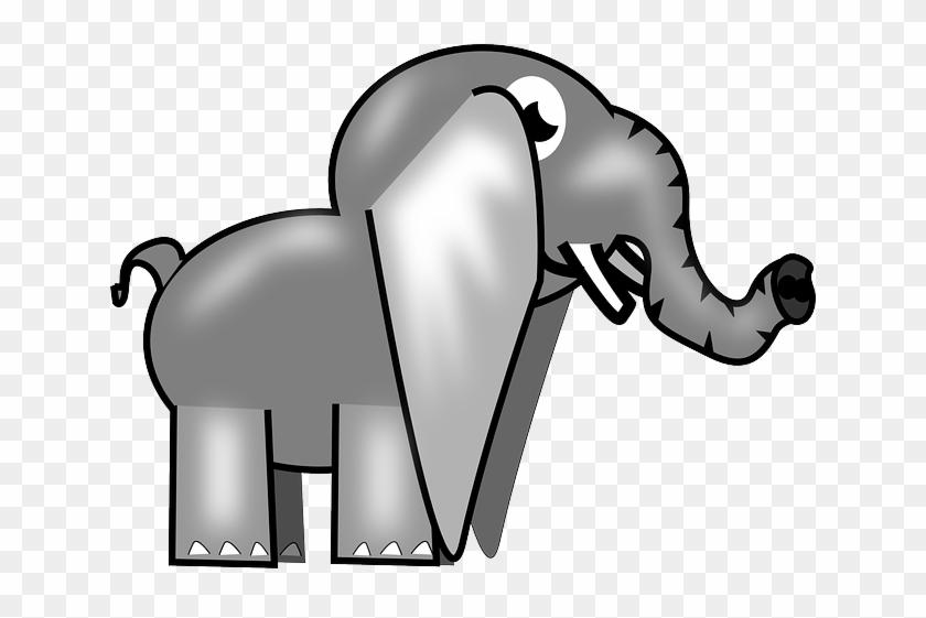 Elephant, Animal, Africa, Safari, Cartoon, Trunk - Custom Baby Elephant Shower Curtain #341845