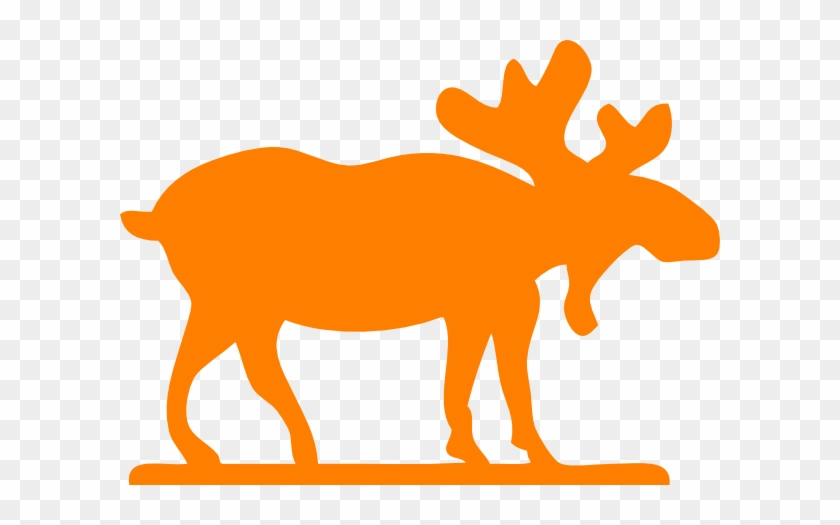 Orange Moose Clip Art - Moose Clip Art #342029