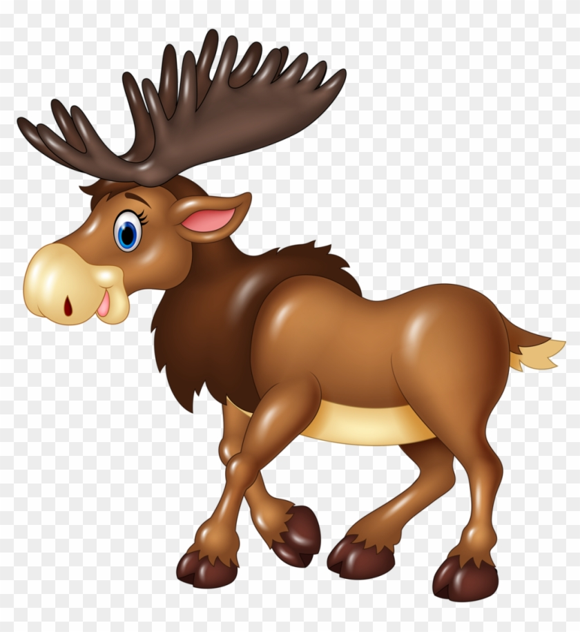 Cliparts Animaux Divers - Cartoon Moose No Background #342103