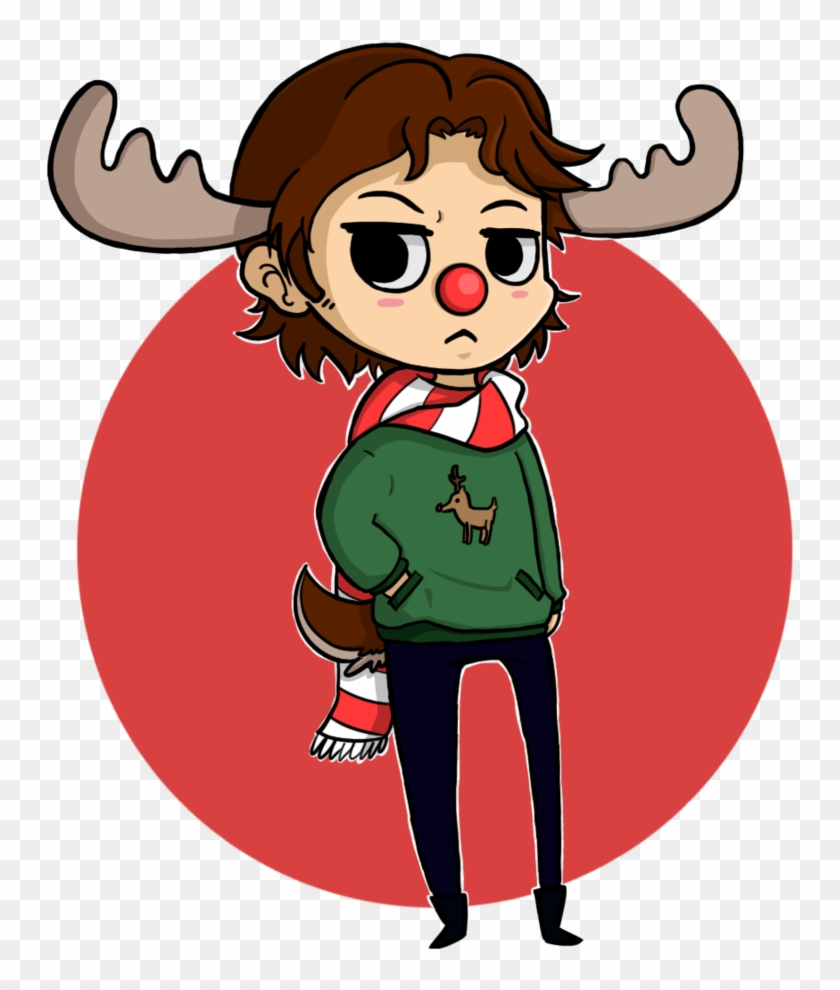 Sam The Christmas Moose By Chibitigre Sam The Christmas - Cartoon Sam Winchester Moose #342120