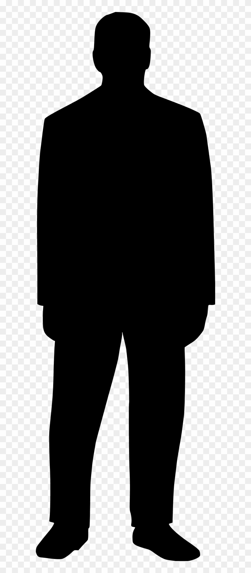 Man Standing Silhouette Clipart Panda - Outline Of A Man Standing #342195