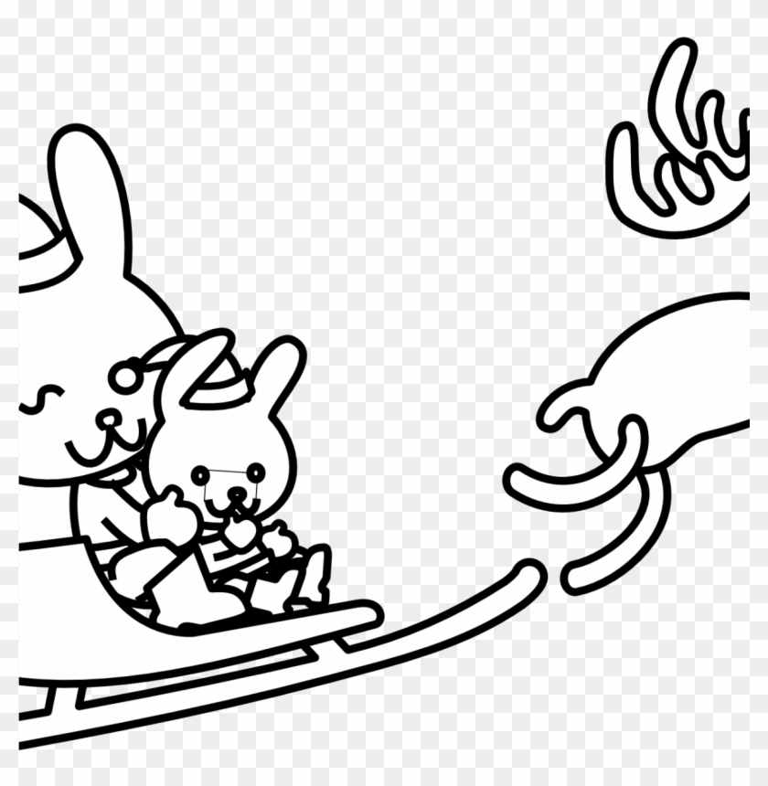 Coloring For Kids Christmas Clip Art Of Black And White - Coloring ...