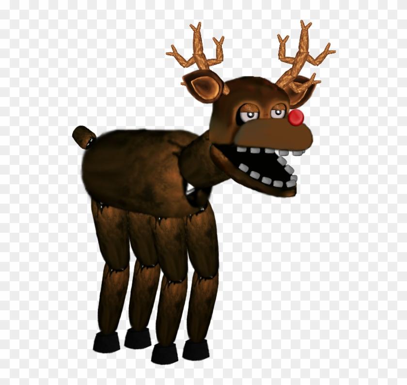 Rudolph Animatronic By Dahooplerzman - Fnaf Moose Animatronic - Free
