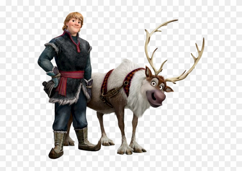 Drawing Of From Frozen Kristoff And Sven: Free Transparent PNG