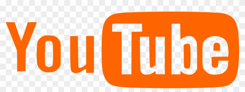 Orange And White Logo Of Youtube - White Youtube Logo Transparent #342951