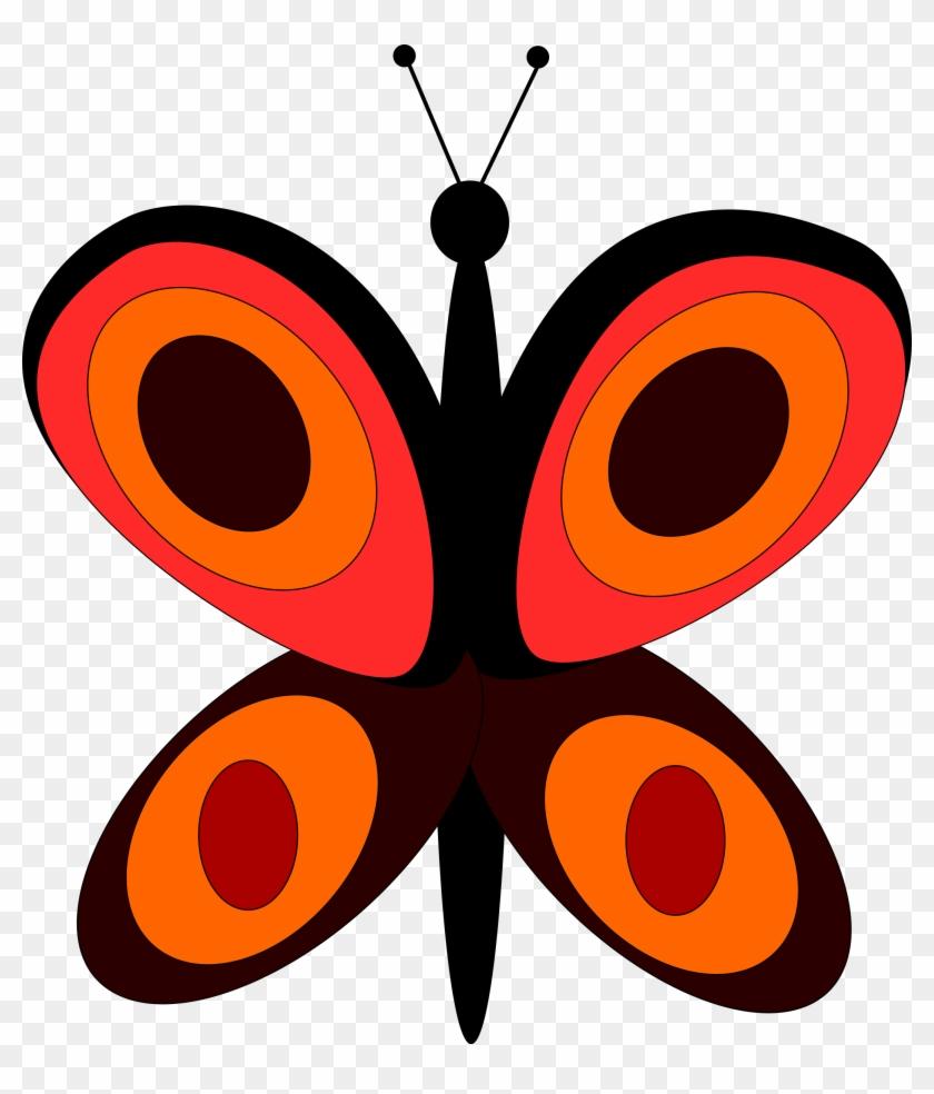 Butterfly - Custom Orange Butterfly Shower Curtain #342969