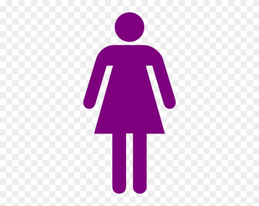 Purple Woman Figure Clip Art At Clker - Girl Stick Figure Transparent Background #343155