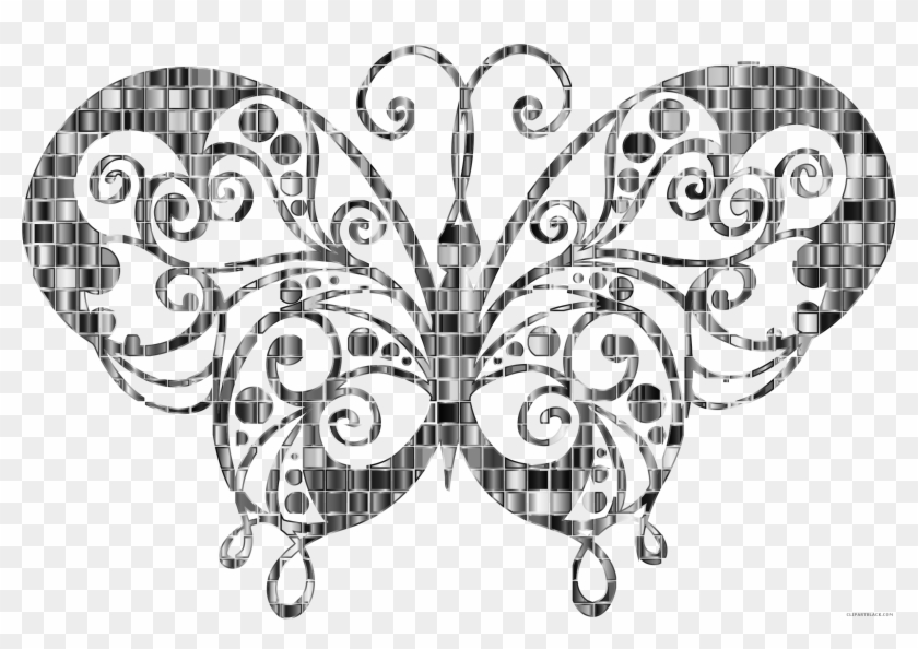Chromatic Butterfly Animal Free Black White Clipart - Swallowtail Butterfly #343856