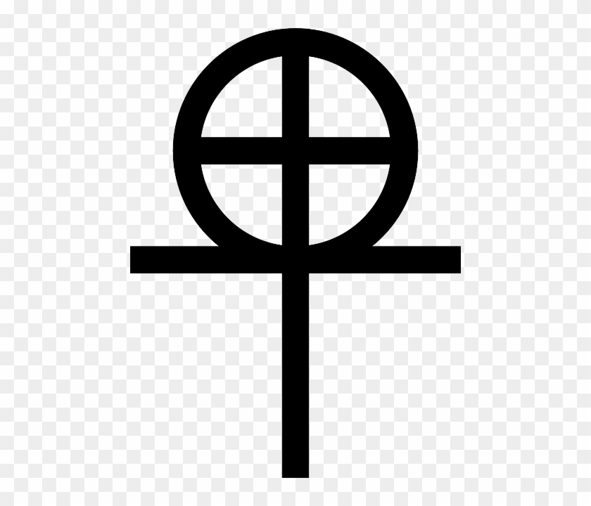 Coptic Sign, Black, Symbol, Cross, White, Original, - Original Coptic Cross #343882
