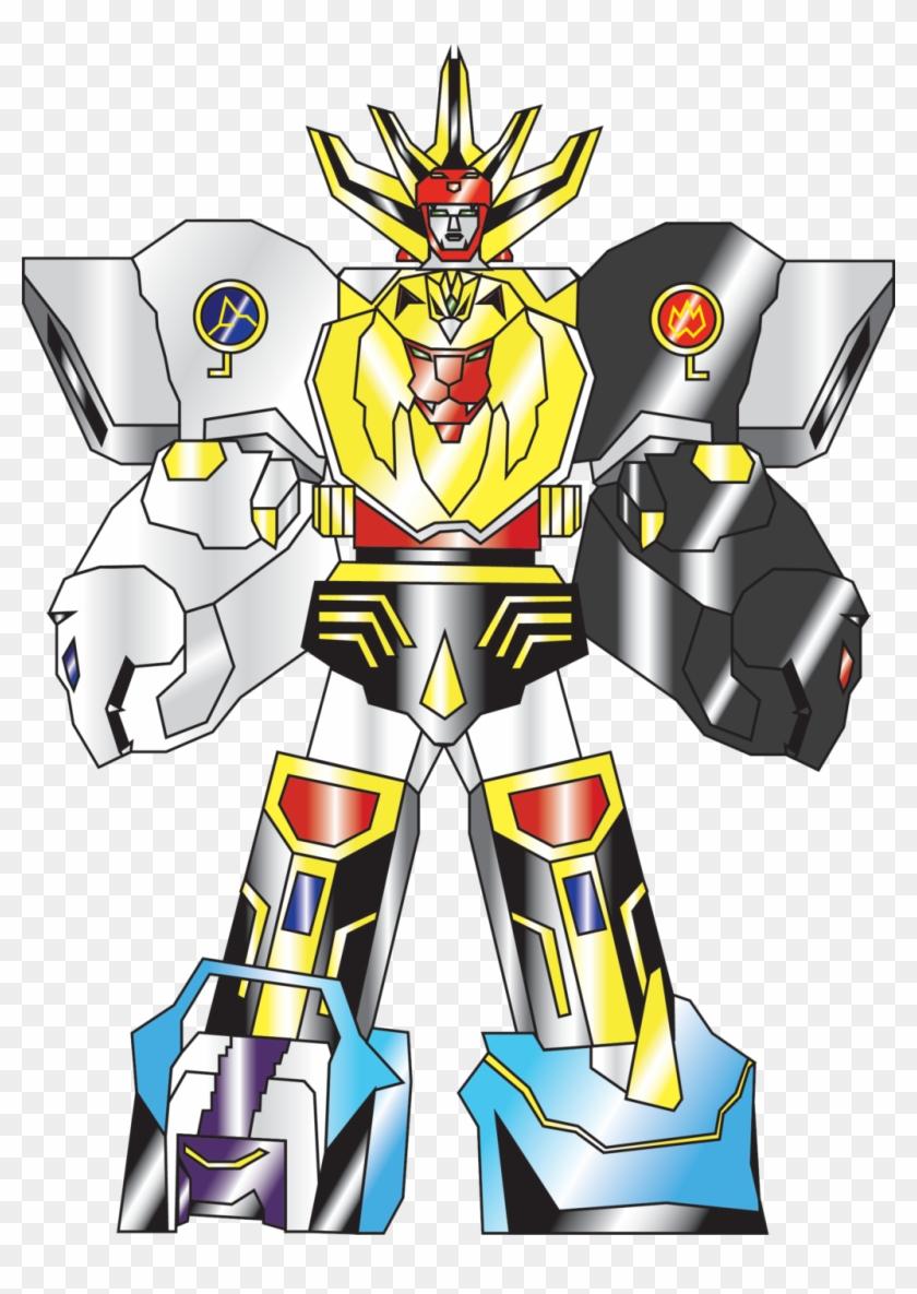 Wild Force Megazord Double Knuckle Striker Mode By - Power Rangers Wild Force Zords #344086