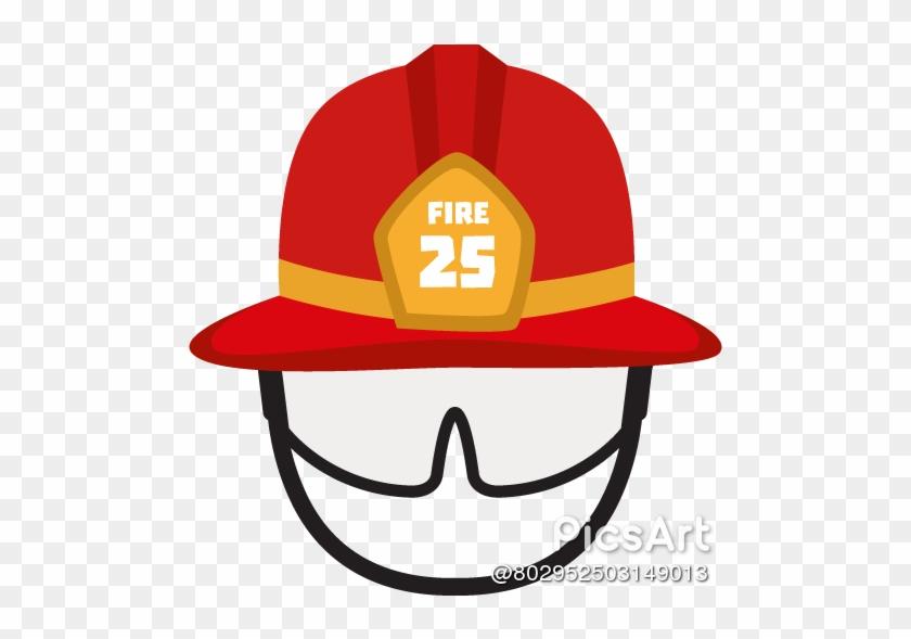Firefighter - Capacete De Bombeiro Desenho #344091
