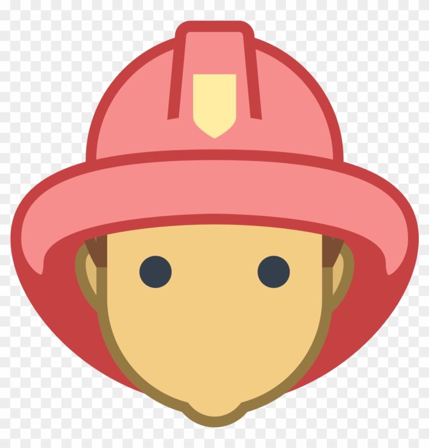 Fireman Badge Clipart - Firefighter Face Clipart #344113