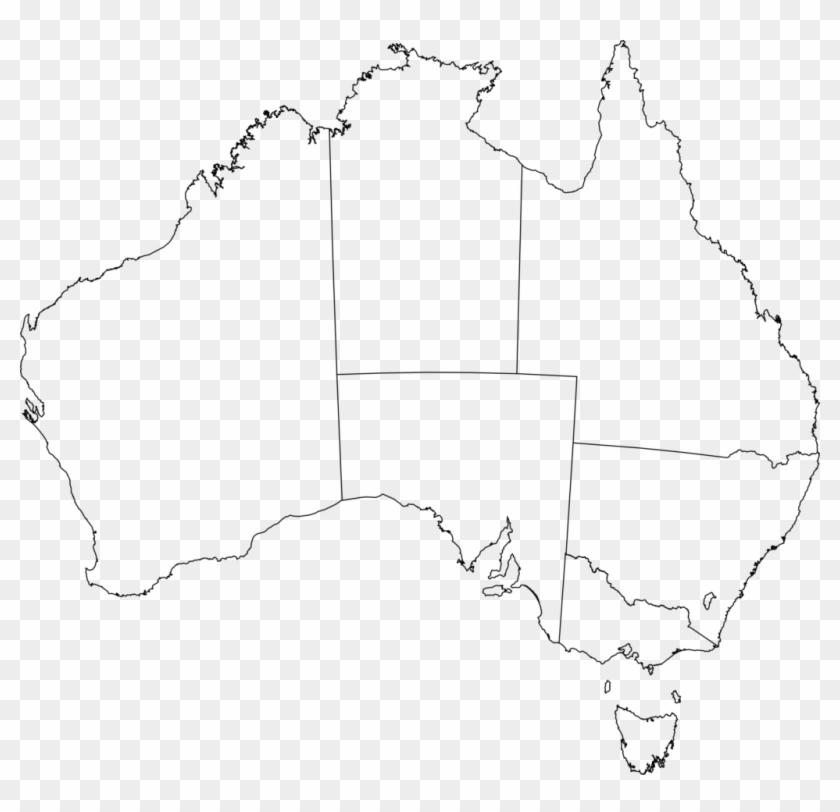 Australian Map Outline Simplistic Clipart Aust 1937 - Clear Map Of ...