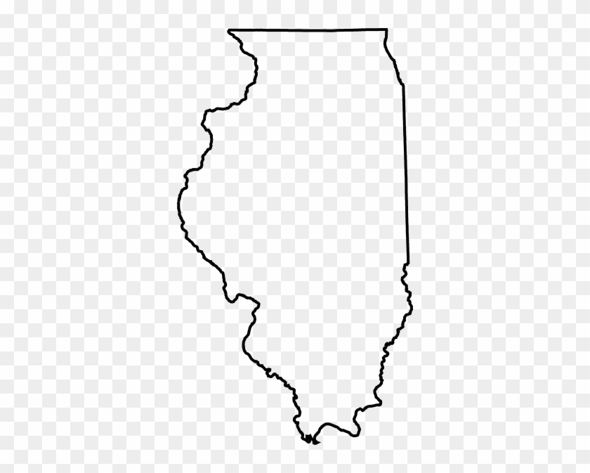 Illinois State Clip Art - Illinois State Outline Png #344457