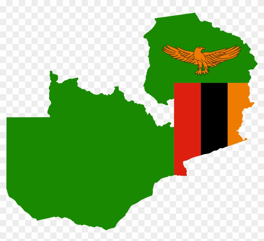 Flag Map - Zambia Map And Flag #344492