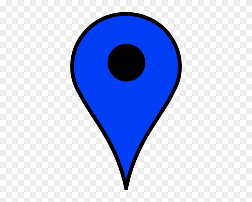 Map Pin Blue Clip Art At Clker - Google Maps Icon Blue #344622