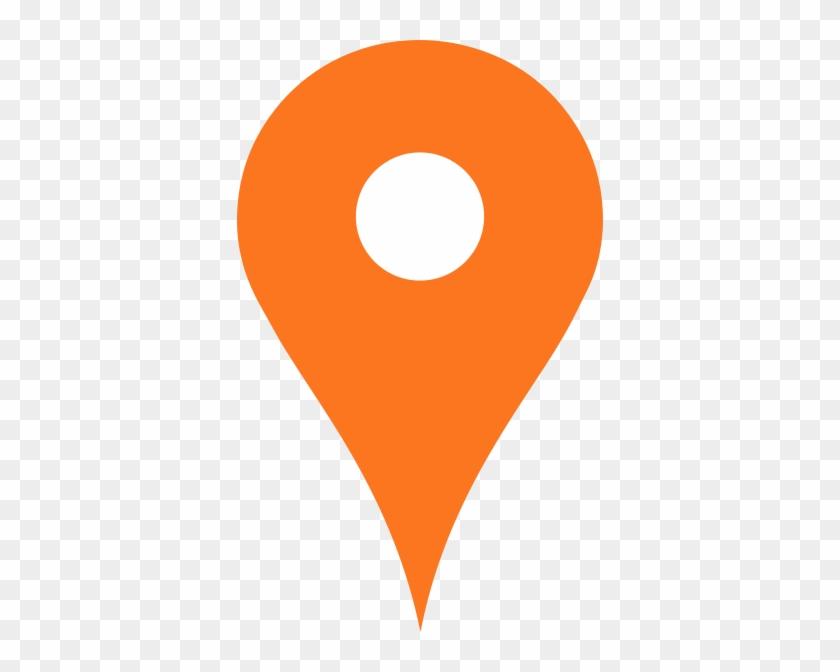 Verde Pin Maps W Clip Art At Clker - Orange Hearts #344700