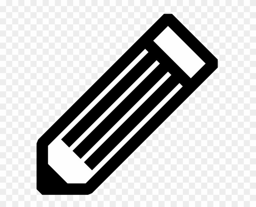Impressive Ideas Pencil Black And White Clip Art At - Black And White Icon #344788