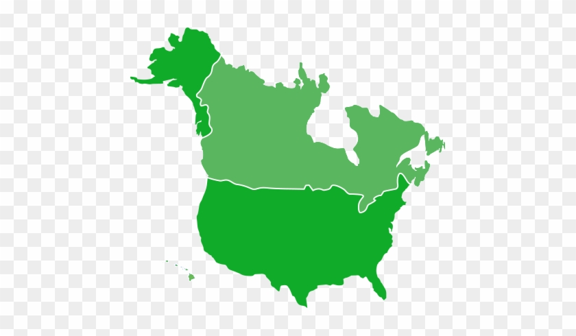 Map Of Us And Canada - North And South America Map #344921