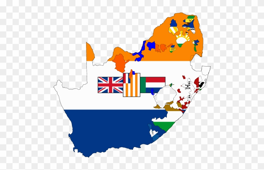 Clipart Map Of Southern Africa - Old South African Flag #344950