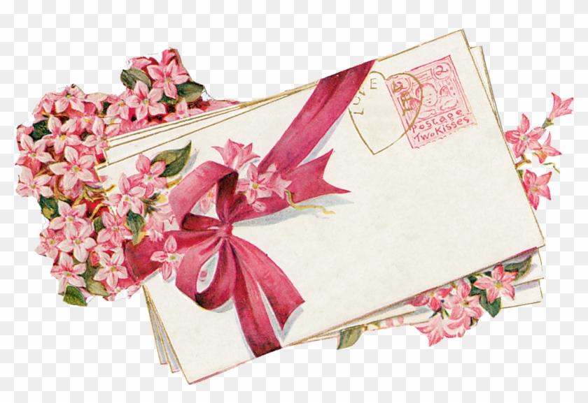 Cherub Love Letters Vintage Love Clipart - Vintage Valentine Clip Art #344956