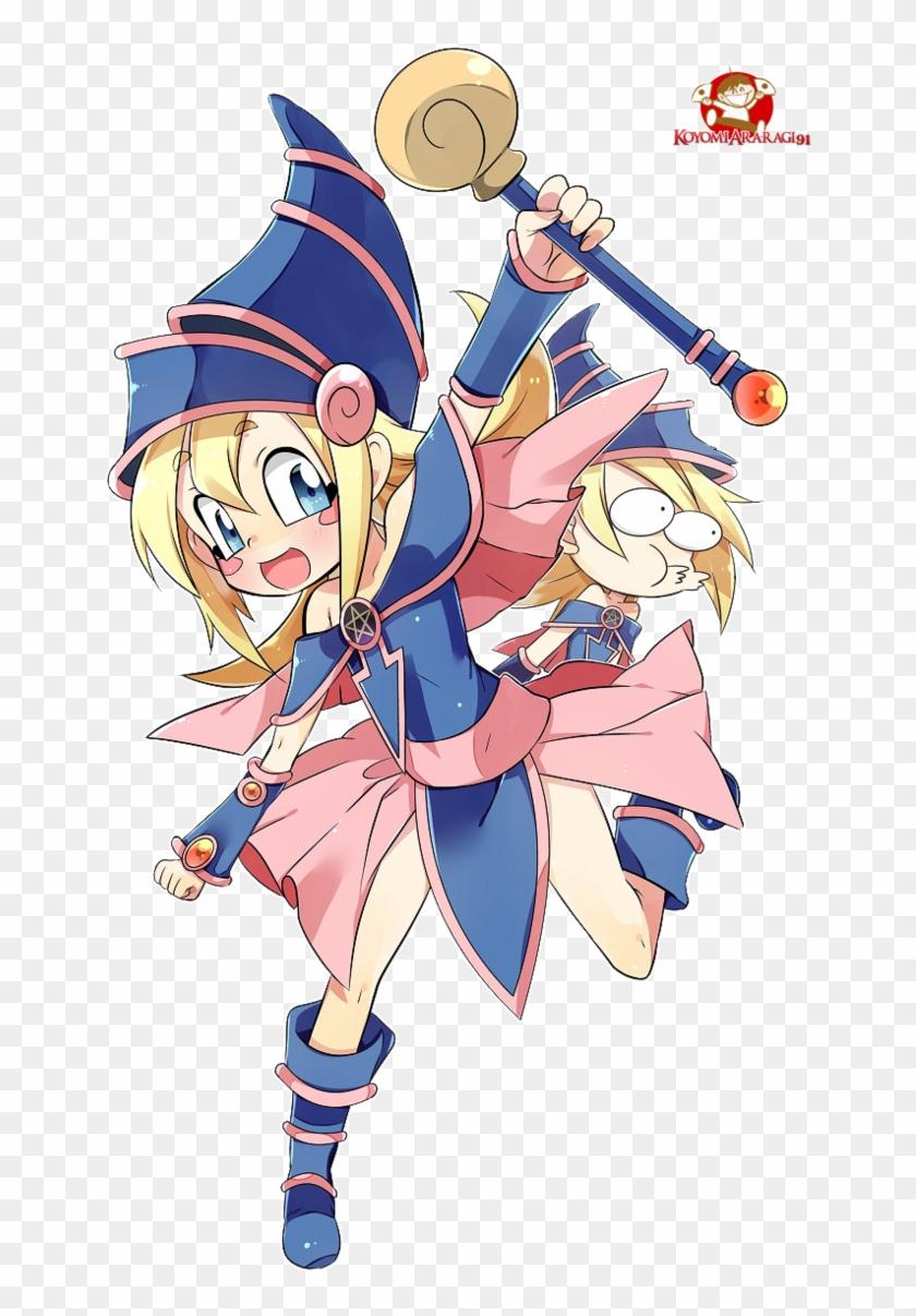 Render Toon Dark Magician Girl By Koyomiararagi91 - Yu-gi-oh! #345021