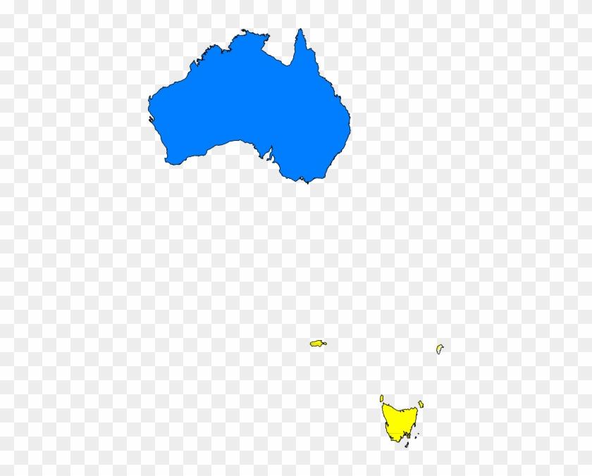 Australia Map Yellow Clip Art At Clker - Australia Map Infographic #345037