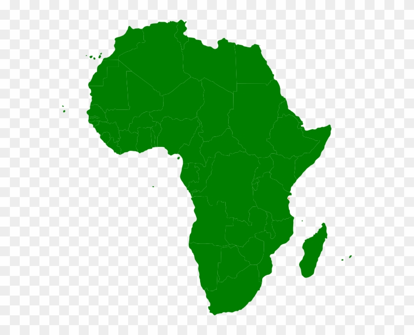 Map Of Africa Clipart - Africa Continent Map Clipart #345182