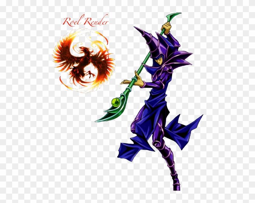 Dark Magician Render 1 By Roronoaroel - Yu Gi Oh Dark Magician Png #345290