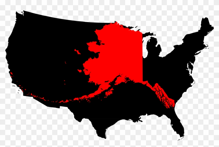 File Clipart Png United States Map - Alaska In The United ...