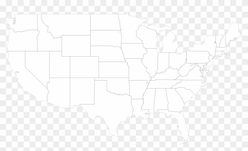 United States Map With Outline Of States - American Mold ...