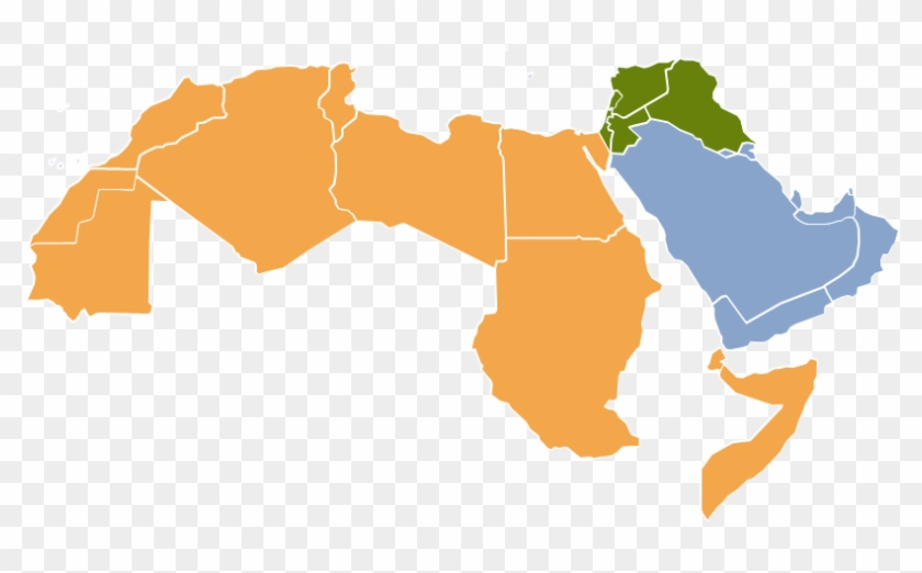 Middle East Map And North Africa Region - Free Transparent PNG ...