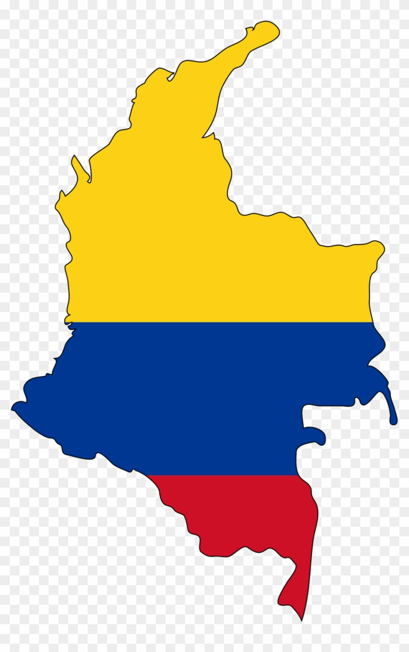 Columbia Flag Map Columbia Flag Icon - Colombia Map Flag - Free ...