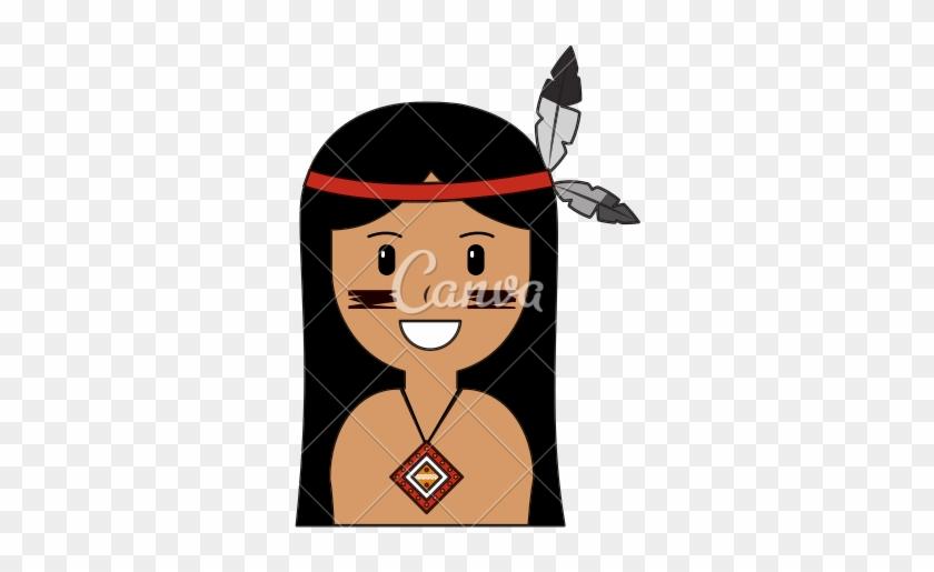 Cartoon Native American Indian - Cartoon Native American #345916