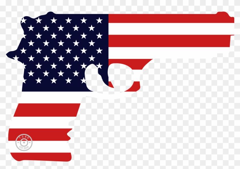 2nd Amendment Decals-american Flag Gun Window Decal - American Flag Gun Png #345949