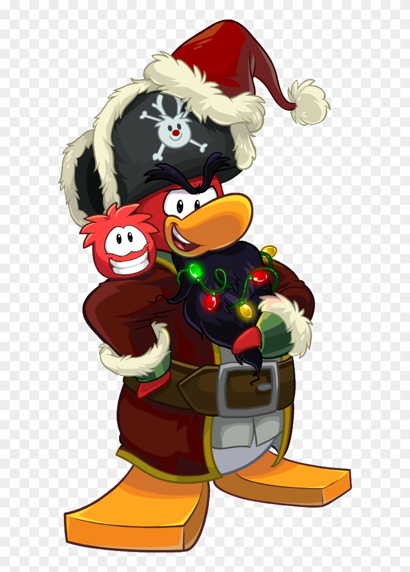 Earn Coins For Ringing Bells In The Plaza, And Earn - Club Penguin Rockhopper Santa #345952