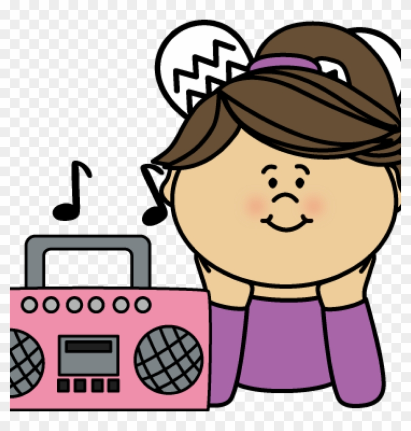 Listening To Music Clipart Girl Listening To Music - Boy And Girl Listening To Music Clipart #346134