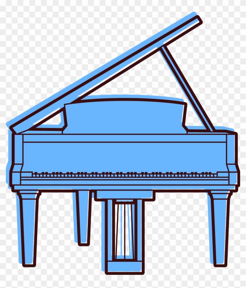 Piano Spinet Clip Art - Musical Instrument - Free