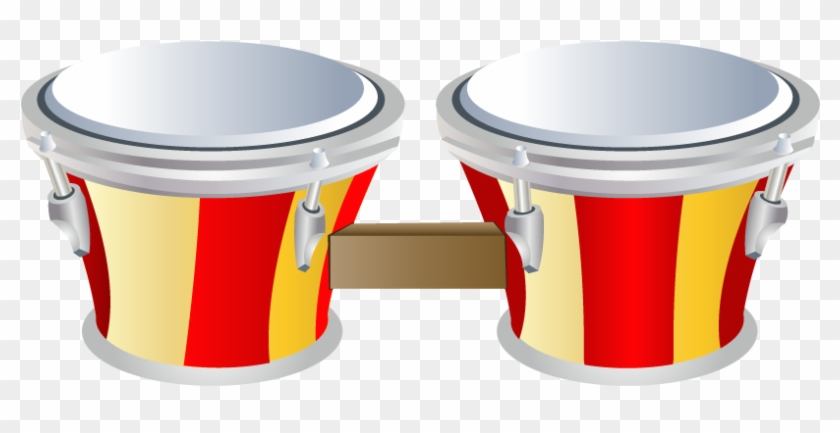 Musical Instrument Drums Clip Art - Green Tambourines: A Percussion Instruments Coloring #346506