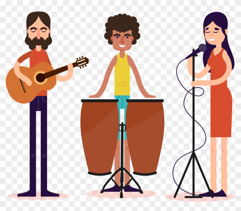 Performance Music Download Illustration - Musical Band Cartoon Png #346949